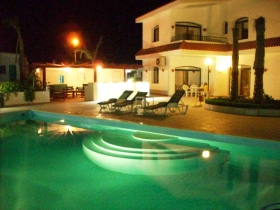 Beautiful Sea Front Villa with Private Garden and 2 Pools, Chalet and Studio